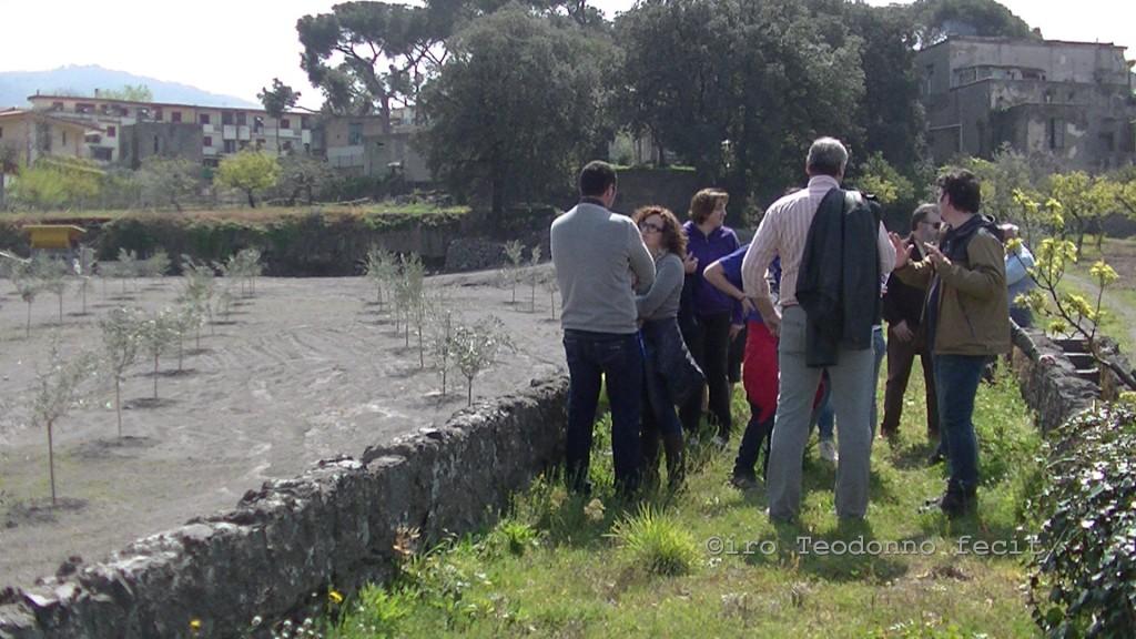 Gruppo in visita presso Mass. Cortiello