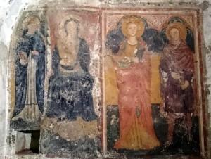 san pietro, madonna con bambino, sant'orsola e santa caterina