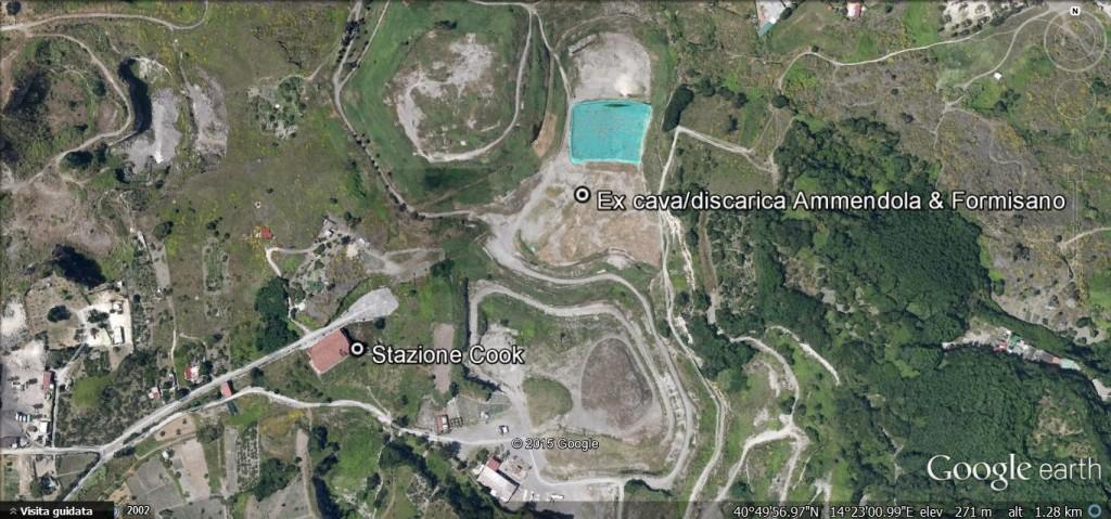 Screenshot da Google earth della posizione della Cook.