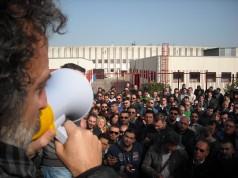 Uno sciopero alla Dema