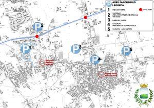 piantina parcheggi e uscite SS268