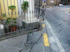 Pomigliano, la chiesa del Carmine danneggiata dal pirata della strada